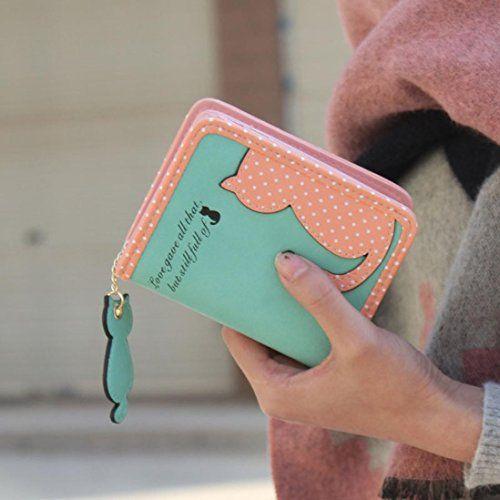 Lacaca Women Cat Purse Short Wallet Bags PU Handbags Card Holder (Green) Lacaca http://www.amazon.co.uk/dp/B017K4960I/ref=cm_sw_r_pi_dp_sLXowb1B9XRFW