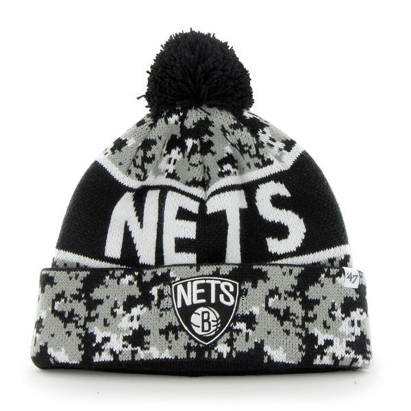 Men's Brooklyn Nets '47 Brand Black Armory Beanie, Today's Sale Price: $18.99 - You Save: $6.00