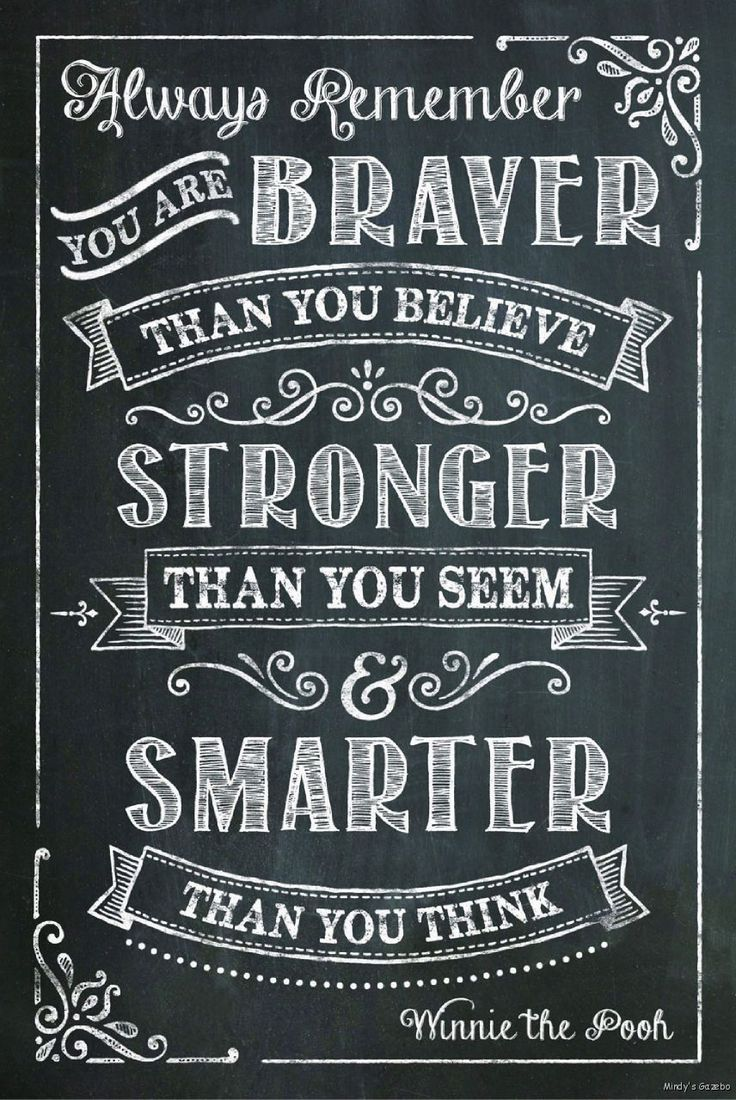 Primitive Black Chalkboard Wood Sign You Are Braver Than You Believe Home Decor | eBay