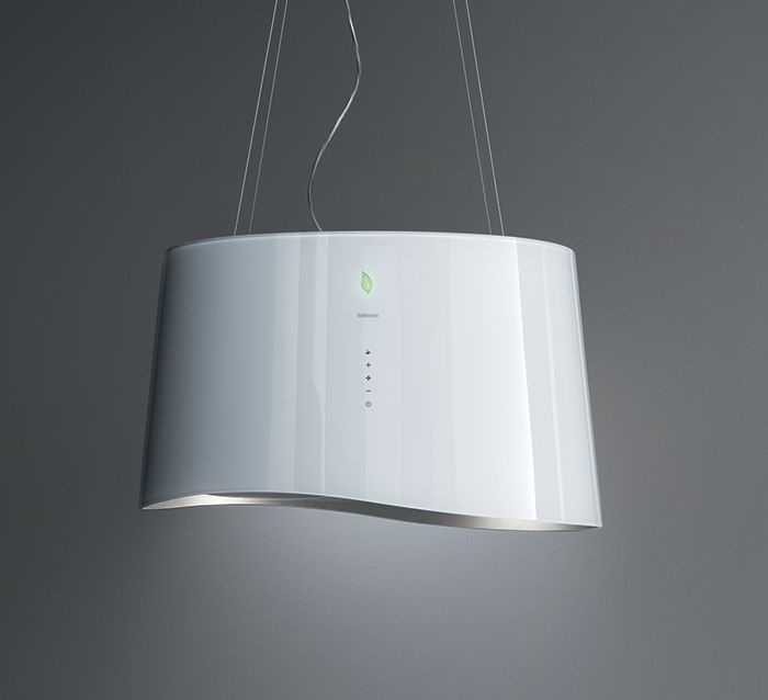 Mare E.ion: glass, ionising system for air purification, touch control + leaf sensor, LED lighting, Carbon.Zeo filter. Fresh air for your home environment.