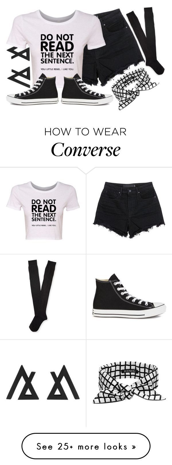"""""""Untitled #965"""" by xxxmakeawish on Polyvore featuring T By Alexander Wang, Aéropostale, SCENERY and Converse - trendy plus size womens clothing, discount womens clothing, womens trendy clothing"""