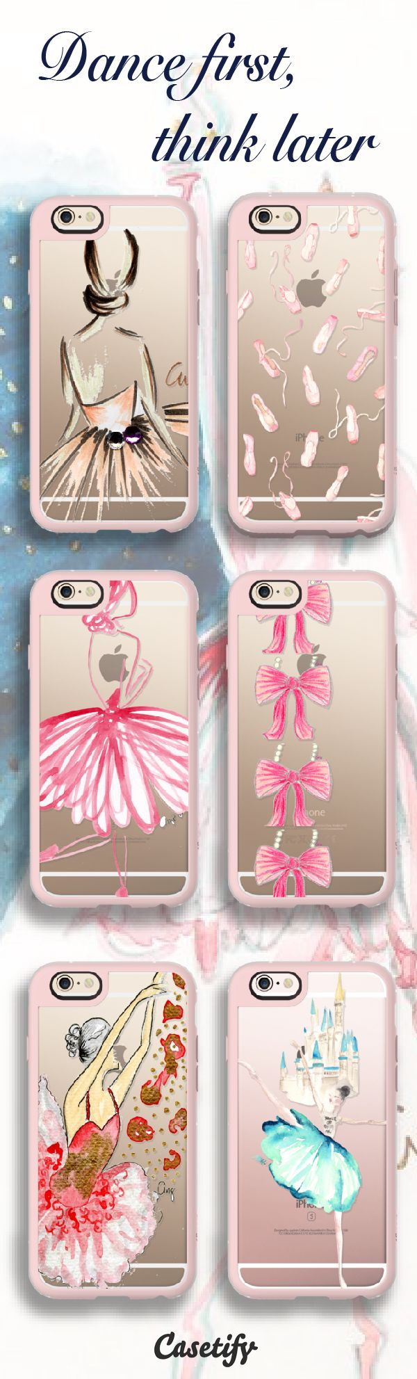 Top 6 ballerina iPhone 6s protective phone cases | Click through to see more ballet iphone phone case ideas >>> https://www.casetify.com/artworks/a4kEQLtfHK | @casetify