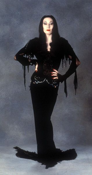 Angelica Houston as Morticia Adams. Love her in this movie!
