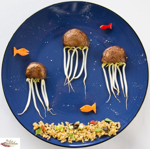 Creative food ideas for kids mushroom jellyfish - Jellyfish Fields - Spongebob