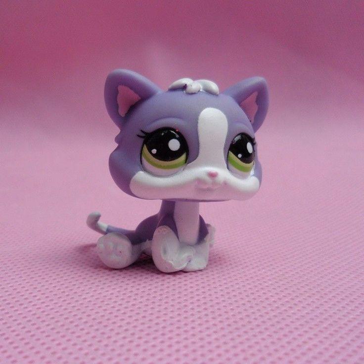 Rare Littlest Pet Shop Cat Kitten Animals Figures Toy Lps