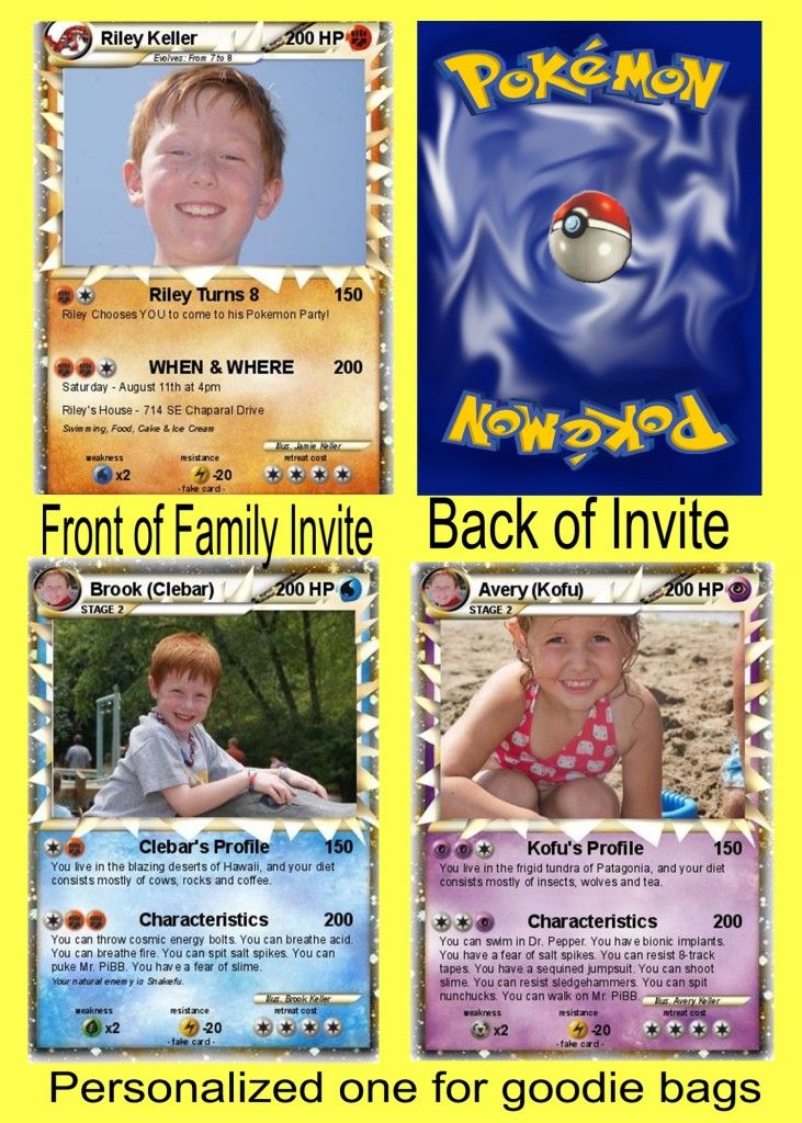 Pokemon Birthday Party- kayden wants this for his 7th bday