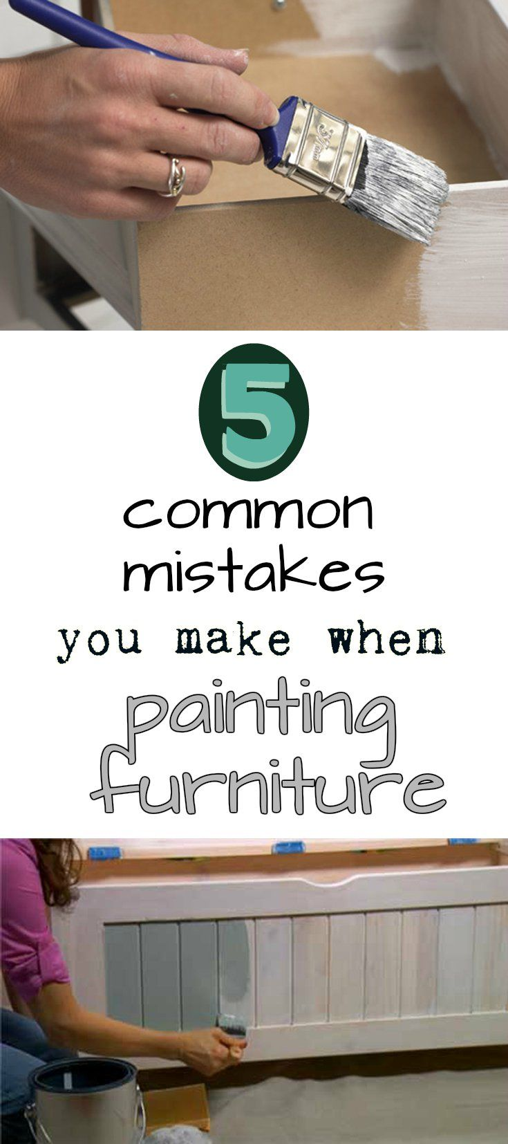 5 common mistakes you make when painting furniture.