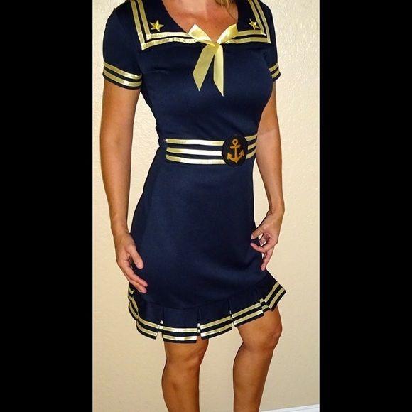 Blue and gold dress halloween