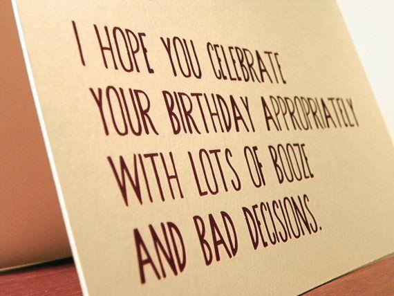 funny birthday card, 21st birthday