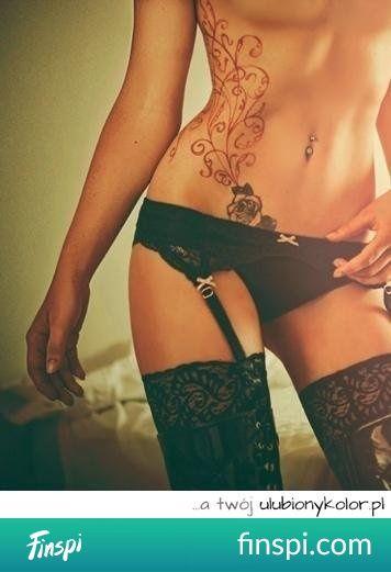 Seksowny tatuaż i jeszcze seksowniejsza bielizna :> #tatuaż #tatuaże #sexy #bielizna