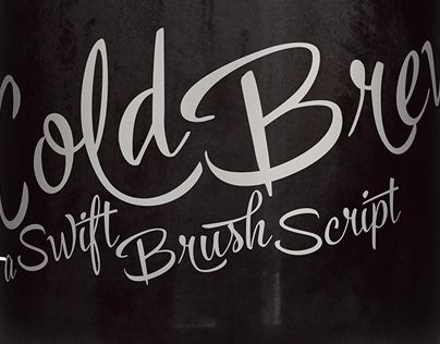 """Check out new work on my @Behance portfolio: """"Cold Brew -lettering font family"""" http://be.net/gallery/34812019/Cold-Brew-lettering-font-family"""