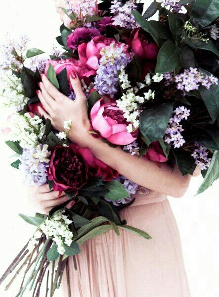 Burgundy, Pink, and White Flowers