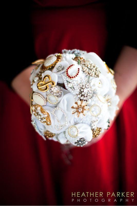 The Brooch Bouquet that @Katy W @Rebecca Zuck and I made for my own wedding!  Lots of inspiration from pinterest!!