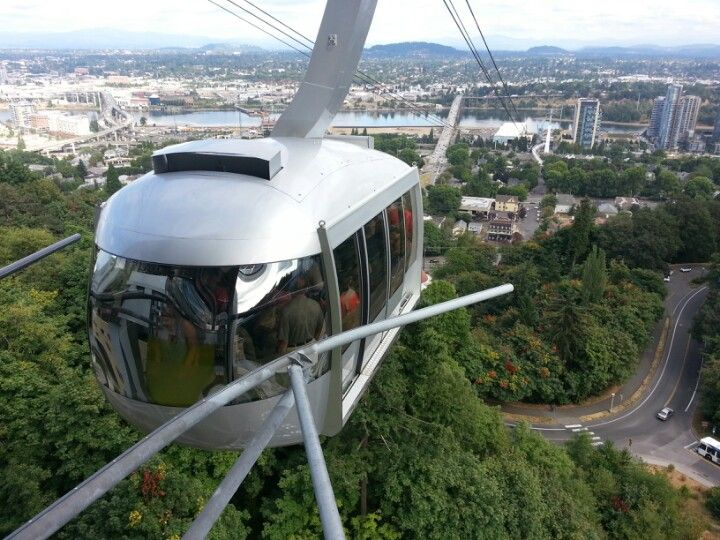 For a beautiful view of the city, you may want to ride the Portland Aerial Tram.  The upper terminal is located on the campus of OHSU close to the Portland VA Medical Center.