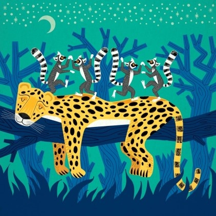 The Leopard and The Lemurs - by Iota Illustration at Bouf.com