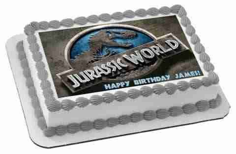 Jurassic World 1 Edible Birthday Cake Topper OR Cupcake Topper, Decor
