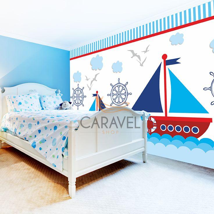 Παιδική Ταπετσαρία τοίχου ναυτικό