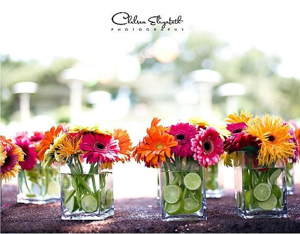 Pink & Orange Gerbera Daisy Bouquet ~ Allison's Wedding Inspiration Board