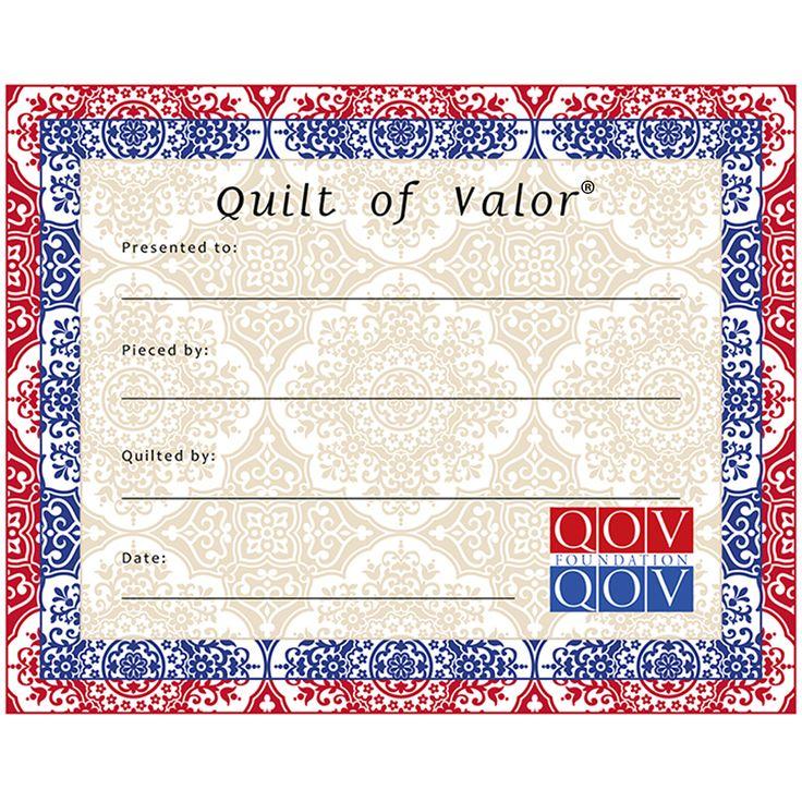 Quilts Of Valor Medallion Quilt Label Design Art