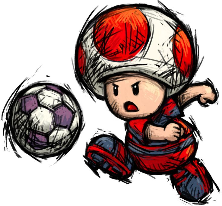 Toad - Mario strikers Charged