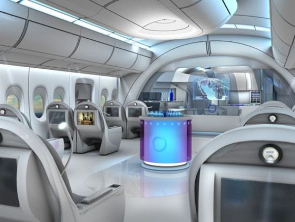 Futuristic Airplane Interior Curated By Missmetaverse Www