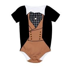 Dress baby as Rhett Butler for Halloween! It even says Frankly My Dear I don't give a damn on the back! All over print bodysuit from Scarebaby Design