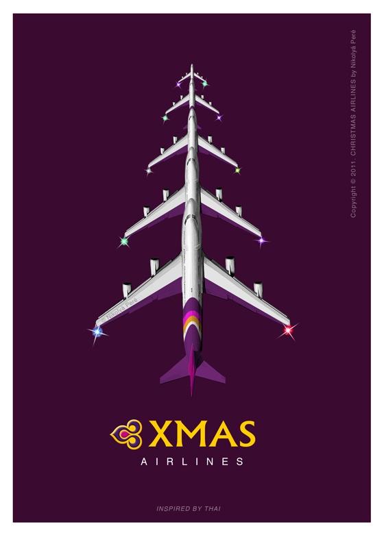Thai Airways : we wish you a merry christmas !