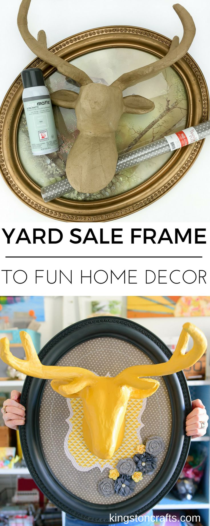Yard Sale Frame to Fun Home Decor - Tale of the Left Out Wall Hanging — Kingston Crafts