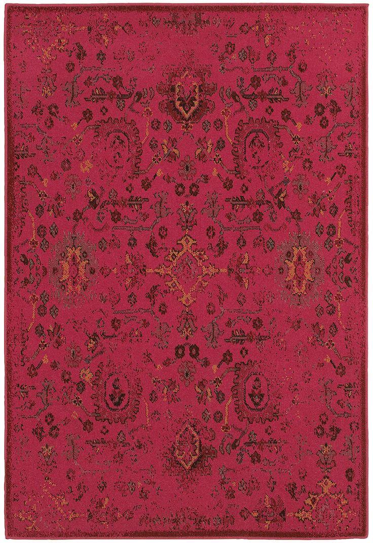 Oriental Weavers Sphinx Revival 3692H Pink / Charcoal  Rug http://www.buyarearugs.com/rugs-3692h-xgx.html