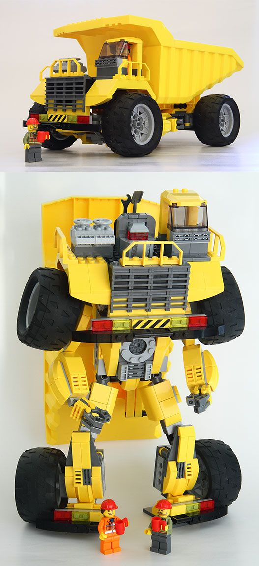 Lego City Dump Truck (Long Haul) by Cpt. Brick