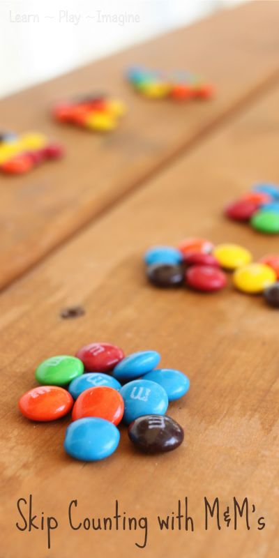 Math games with M&M's - Making learning fun!
