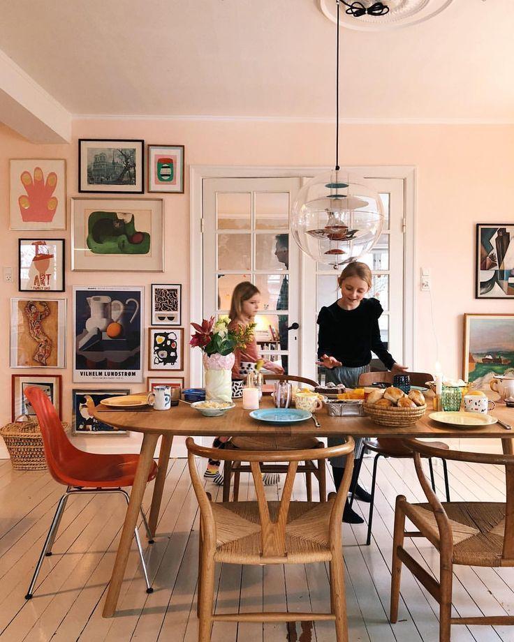 Peach Walls Dining Room Design Dining Room Decor Home Decor