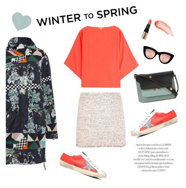 """Winter to Spring"" by theoni2009 ❤ liked on Polyvore featuring NARS Cosmetics, Golden Goose, MSGM, Balenciaga, Bobbi Brown Cosmetics, Quay, Michael Kors, Marni and Wintertospring"