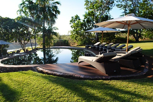 Tranquil setting around the pool at El Questro  www.thekimberleycollection.com.au