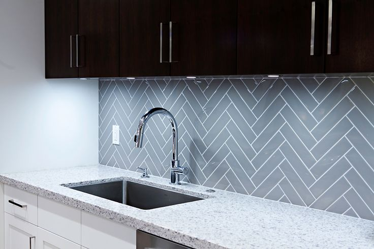 grey herringbone tile google search project townhouse Unique Kitchen Backsplash Modern Kitchen Backsplash