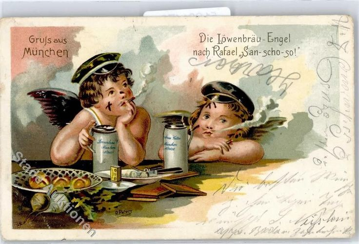 51331170 Sign Peters R Loewenbraeu Engel Bier Zigarette | eBay