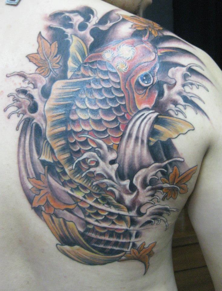 Koi, Oriental Corvux Tattoo Diana Velasquez Medellin Colombia