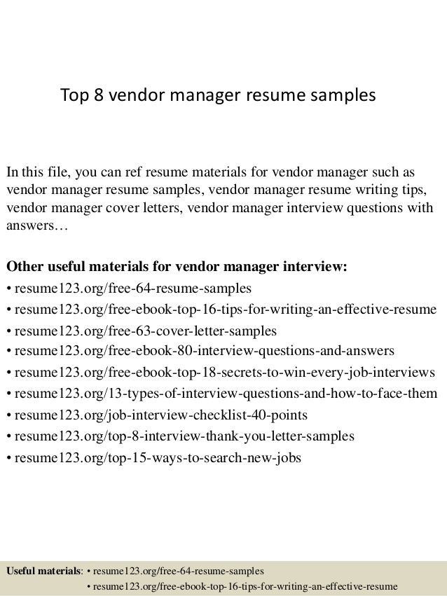 vendor management cover letter - Zoray.ayodhya.co