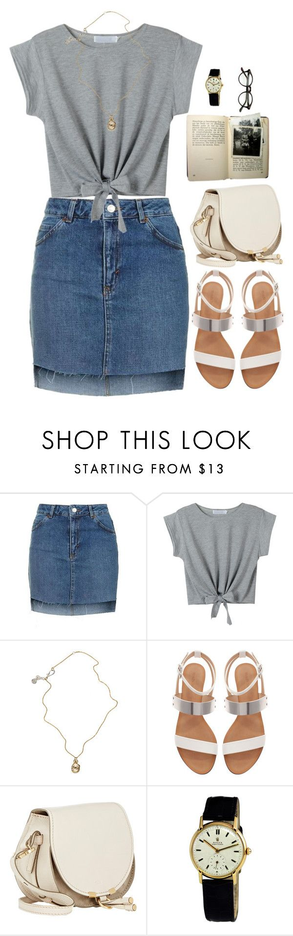 """""""Untitled #716"""" by michcouture on Polyvore featuring Topshop, WithChic, Jessica de Lotz Jewellery, Zara and Rolex"""
