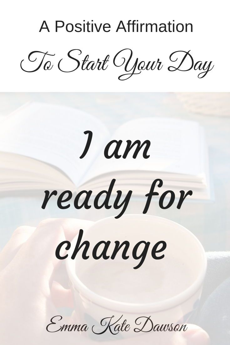 Positive affirmation to anchor in the belief you are ready