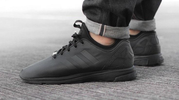 low priced b0820 04e7a adidas zx flux triple black