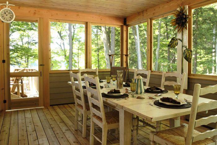Porch beams - The Carling - Linwood HomesScreens Porches, Porches Beams, Screened Porches