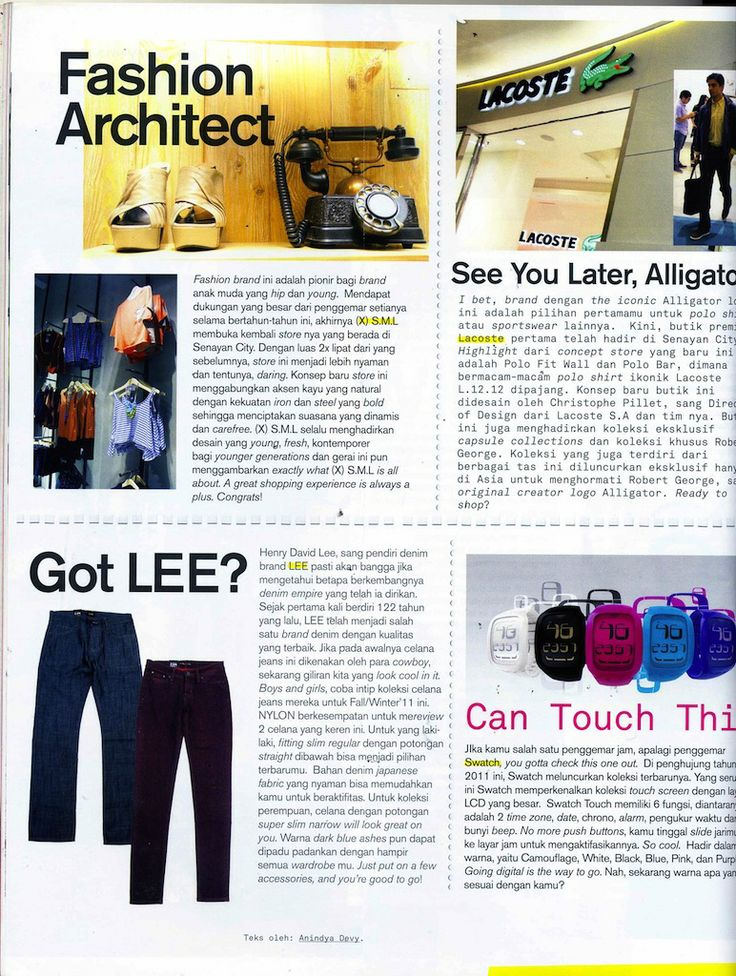 (X)S.M.L Senayan City store is appeared on Fashion Architect rubric Nylon Indonesia - December 2011