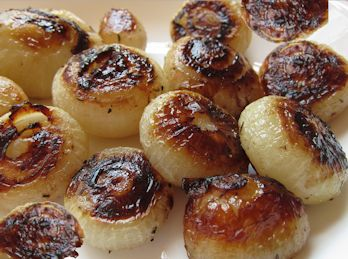 Roasted cippolini onions