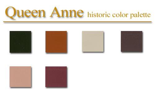 Historic Color Palette Queen Anne Style Artsparx Color Palette Recipies Techniques And Tips