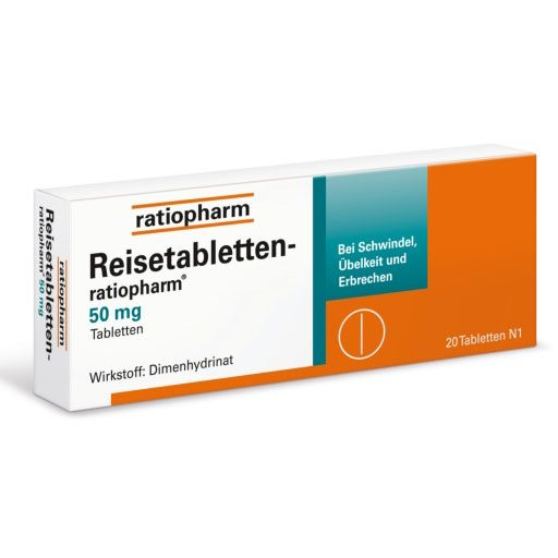 REISETABLETTEN ratiopharm - Zur Vorbeugung oder Behandlung typischer Reisebeschwerden.