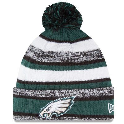 Now you can look like the Philadelphia Eagles players on game day with this NFL Sideline beanie . . This is an absolute must-have for any Football fan's head wear collection. 100% wool machine washabl