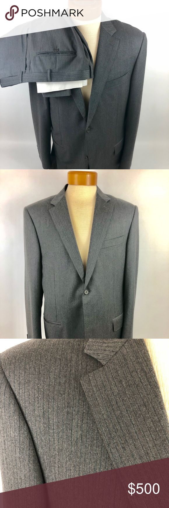 """CANALI  Mens Brown Suit 46R Pants 36x31 MSRP $1795 CANALI NWOT Mens Brown Suit 46R Pants 36x31 MSRP $1795  Condition:  This suit has never been worn but the tags have been removed.  The tags are included.   Measurements:  Armpit to Armpit:23 Chest:46 Waist:22 Arm:26 Shoulder to Shoulder:18.5 Length from bottom of collar:32  Pants:  Waist: 36 ( with .33 allowance) Inseam: 31 (1.75"""" allowance) Outseam: 41.5 Leg Opening:9.5 Front Rise:10.5 Back Rise: 14.5 Hips: 40 Canali Suits & Blazers Suits"""