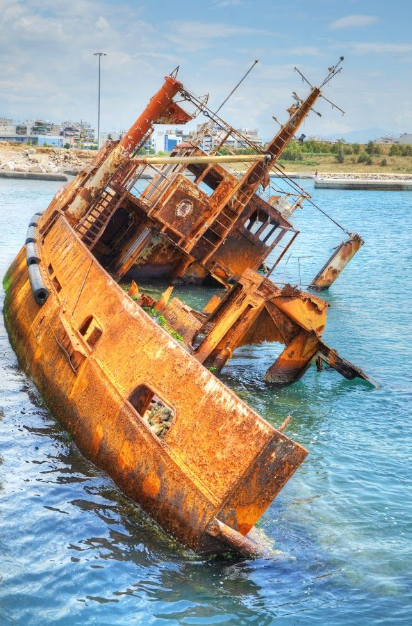 Poseidon shipwreck in Port of Piraeus