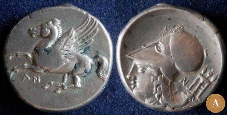 Акарнания, Анакторион, 350-300 годы до Р.Х., статер. | ANDREY PYATYGIN ANCIENT COINS | Магазины | Антикварус